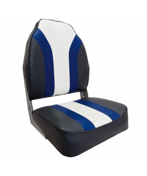 WATERSIDE - BOAT SEAT -BLACK/BLUE