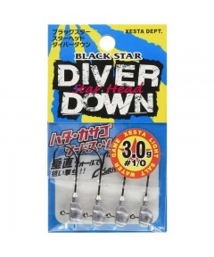 XESTA - JIGHEADS  STAR HEAD DIVER DOWN HOOK 1/0 -5G