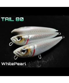 ALET SPINNING - TAIL 80 8CM / 11G -WHITE PEARL