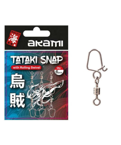 AKAMI - TATAKI SNAP ROLLING SWIVEL -6 PCS