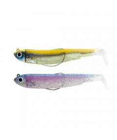 FIIISH BLACK MINNOW  No 2 - DOUBLE COMBO 5g - RAINBOW - GOLD BLUE