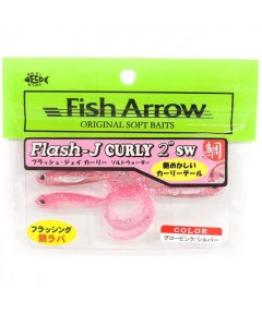 "FISH ARROW - FLASH -J GRUB 3"" SW -GLOW PINK"