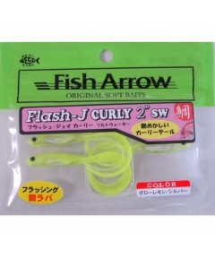 "FISH ARROW - FLASH -J GRUB 3"" SW -GLOW CHART"