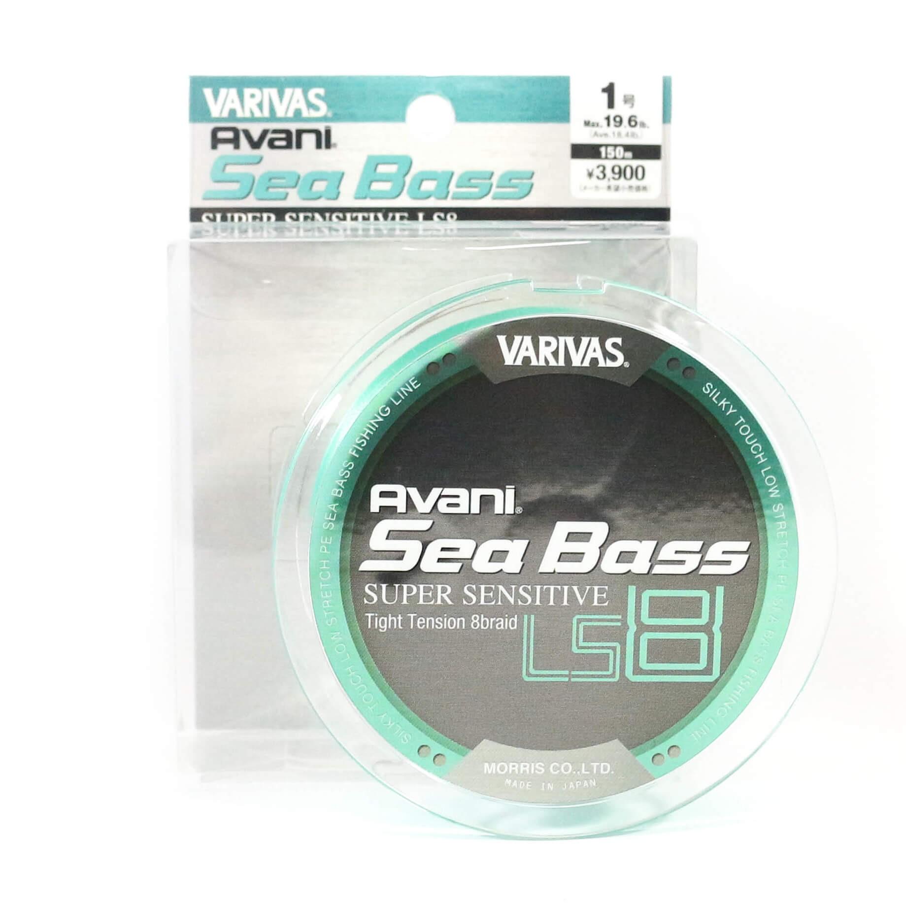 VARIVAS Avani Sea Bass Super Sensitive LS8 PE X8 Fishing Braid Line 150m Japan